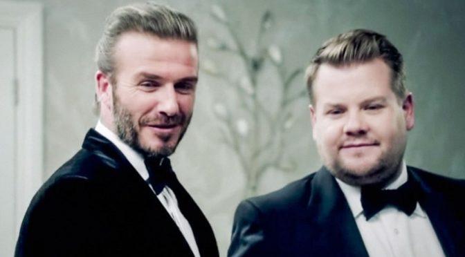 Watch: James Corden and David Beckham Audition for James Bond